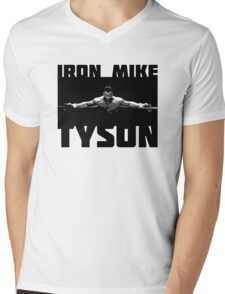 IRON MIKE TYSON Mens V-Neck T-Shirt