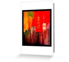 buildings - abstract Greeting Card