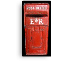Post, Post it, Red Post Office Box, Antigua, Caribean Canvas Print