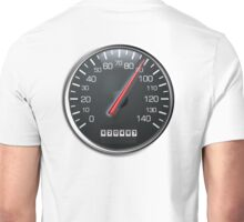 MOTORSPORT, SPEEDO, Speedometer, Speed meter, Race, Racing Cars, WHITE Unisex T-Shirt