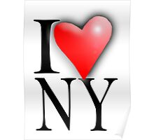 I LOVE, NY, NEW YORK, New York City, City of New York, America, American, USA Poster