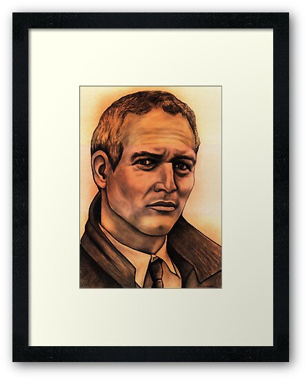 Paul Newman celebrity portrait by Margaret Sanderson