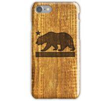 California Bear Wood Design iPhone Case/Skin