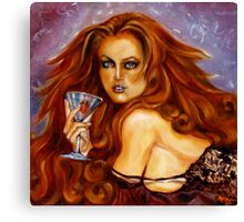 Strawberry Martini Canvas Print