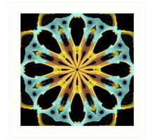 Radial Gold Art Print