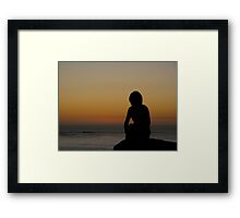 Just a time to reflect at the beach Framed Print