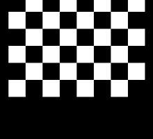 Checkered Flag, Chequered Flag, Racing Cars, Race, Finish line, BLACK by TOM HILL - Designer