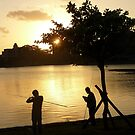 Fishing, Bihu Park by Digby