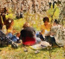Sakura - Afternoon Picnic by Mike  Savad