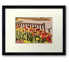 Tulips - Retirement can be sweet Framed Print