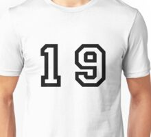 Number Nineteen Unisex T-Shirt