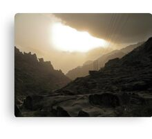 The road to Mordor... with modern comfort ! Canvas Print