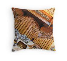 Abstract Organ Throw Pillow