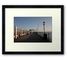A walk out to sea Framed Print