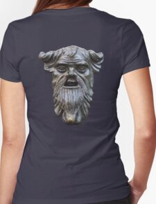 Hard faced, Knocker face, bronze door knocker, BLACK Womens Fitted T-Shirt