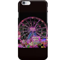 CONEY ISLAND WONDER WHEEL IN NEON iPhone Case/Skin