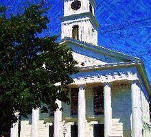 Whaling Church in Edgartown, Martha's Vineyard by Monika Fuchs