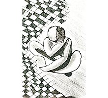 Tiled nude... abstract etching Photographic Print