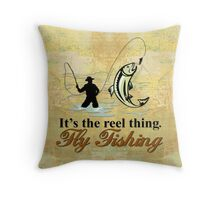 Fly Fishing Reel Thing  Throw Pillow
