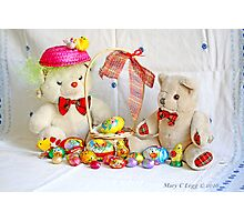 Fatso shares an Easter Basket with Erasmus Photographic Print