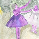 After Degas- coloured etching by © Sandra Lock