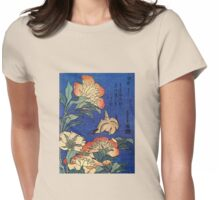 'Flowers' by Katsushika Hokusai (Reproduction) Womens Fitted T-Shirt