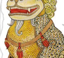 Laughing Fu Lion Tee Sticker