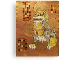 The Laughing Fu Lion Canvas Print