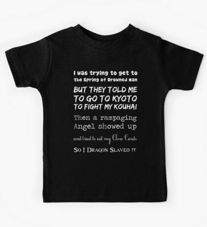 90's Anime Nerd Shirt on Black Kids Tee