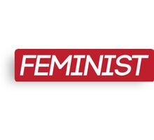 Red Feminist Logo Canvas Print