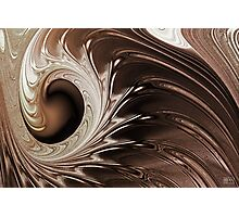 Chocolate Mocha Swirl Photographic Print