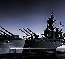 USS North Carolina Battleship by JGetsinger