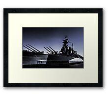 USS North Carolina Battleship Framed Print