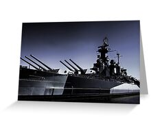 USS North Carolina Battleship Greeting Card
