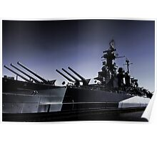USS North Carolina Battleship Poster