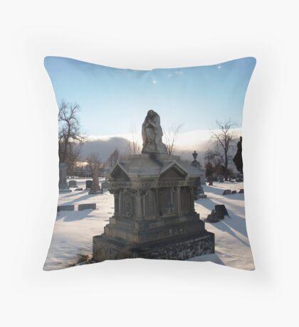 Angel Tomb Throw Pillow