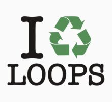 I Recycle Loops Baby Tee