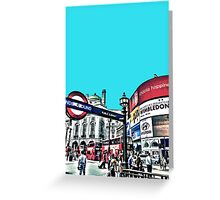 Piccadilly Circus by Tim Constable Greeting Card