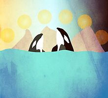 Orcas under the Sun by nannapaskesen