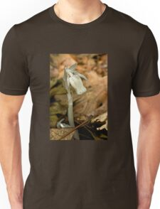 Indian Pipe Wildflower and Fungus Gnat - Monotropa uniflora Unisex T-Shirt