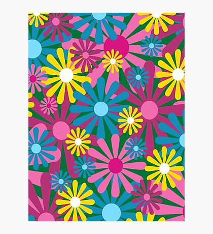 Funky Flowers Photographic Print