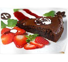Tarte au Chocolat Tricolore Poster