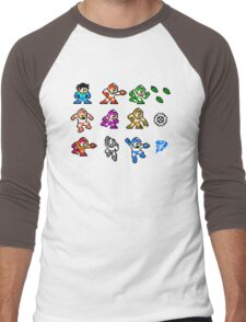 MegaMan Rainbow Men's Baseball ¾ T-Shirt