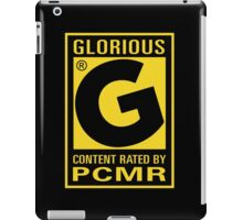 Content Rated GLORIOUS By PC Master Race iPad Case/Skin