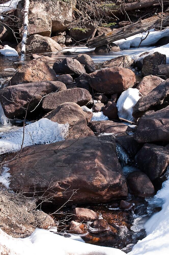 Icey Stream 2 by Mark David Barrington