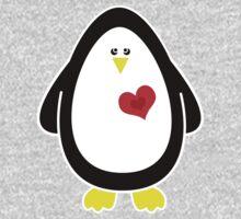 Lovable Penguin Baby Tee