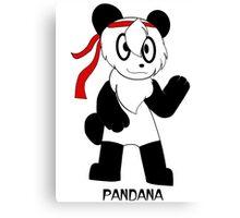 PANDANA! The panda in a bandana!  Canvas Print
