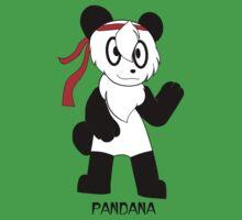 PANDANA! The panda in a bandana!  One Piece - Short Sleeve