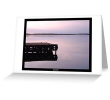 Serenity at sunset Greeting Card