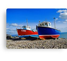 Fishing boats at beer Canvas Print